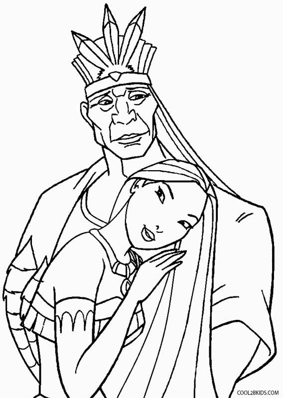 real pocahontas coloring pages - photo#11