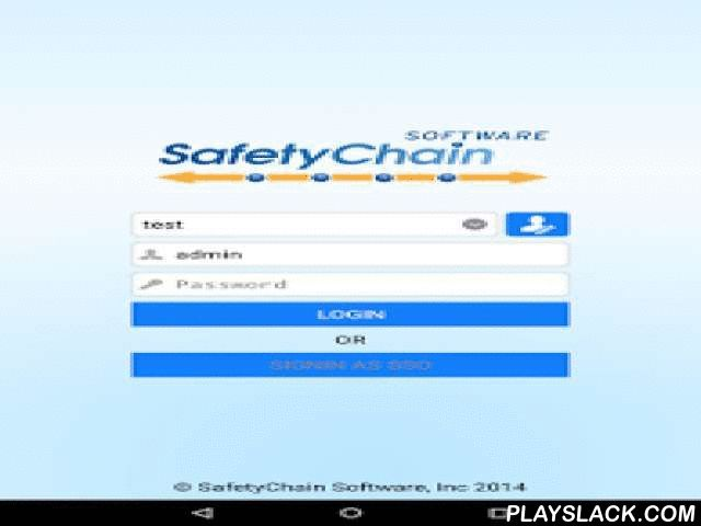 SC Mobile  Android App - playslack.com ,  SafetyChain Mobile is the mobile compliment for licensed users of SafetyChain for Food™ - the leading SaaS-based Safety Chain Management solution for the food and beverage industry. Used to assess food safety and quality information at the earliest point possible in a company's supply chain, SafetyChain for Food and SafetyChain Mobile helps food growers/suppliers, manufacturers/co-packers, brokers/distributors and food services/retailers to:• Save…