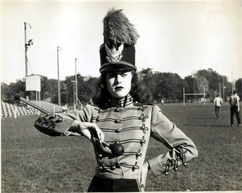 My grandmama was a drum majorette.  This is how I imagine her