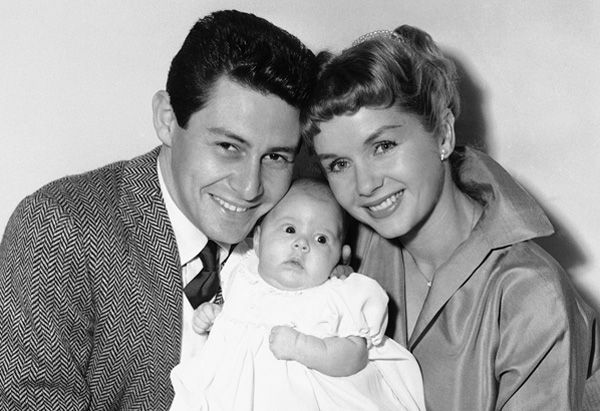 Eddie Fisher, Debbie Reynolds and Carrie Fisher