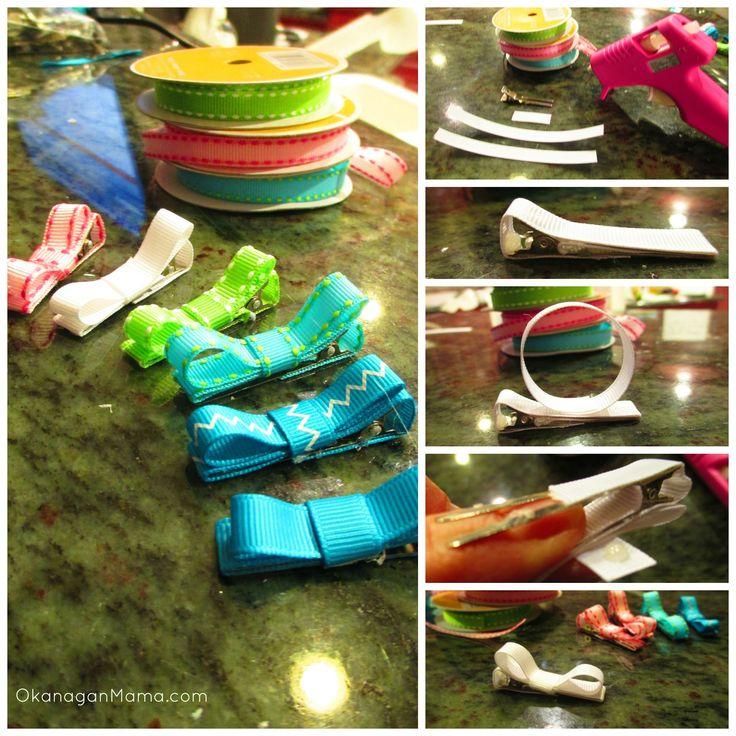#DIY #Ribbon #Barrettes in 4 easy steps