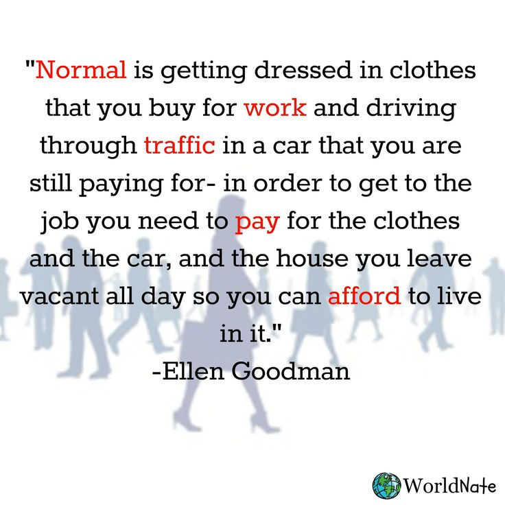 'Normal' sounds a little crazy to me... https://www.facebook.com/pages/World-Nate/726221224152434