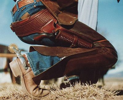 ❦ Shotgun chaps? Mesquites must be thick.