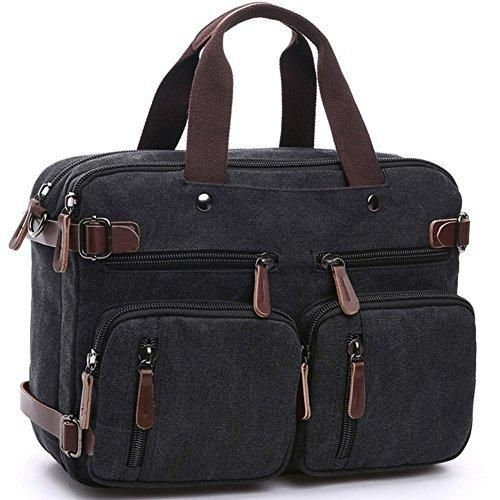 Oferta: 32.29€. Comprar Ofertas de Cesu portátil bolsa Hybrid maletín mochila Messenger Bag para hombres mujeres negro negro barato. ¡Mira las ofertas!