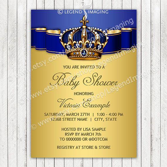 Prince Baby Shower InvitationRoyal Baby by LegendImaging on Etsy, $21.00