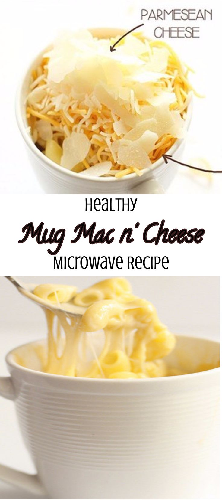 Healthy homemade mug mac n cheese in a microwave recipe