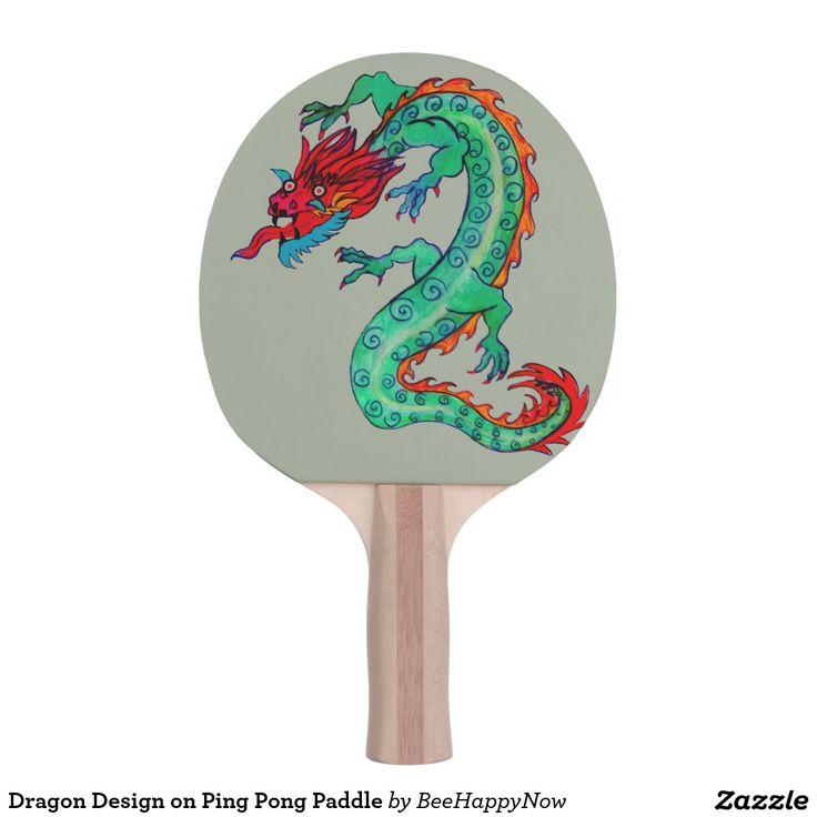 Dragon Design on Ping Pong Paddle