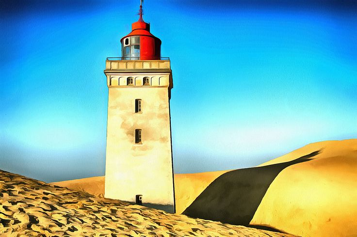 Rubjerg Knyde Lighthouse on the northwest side of Jylland