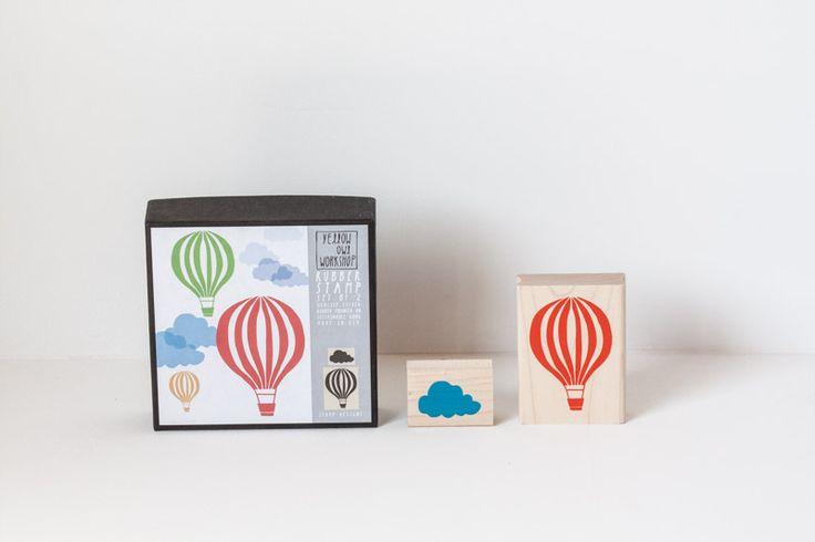 Kit de sellos nube y globo 02.