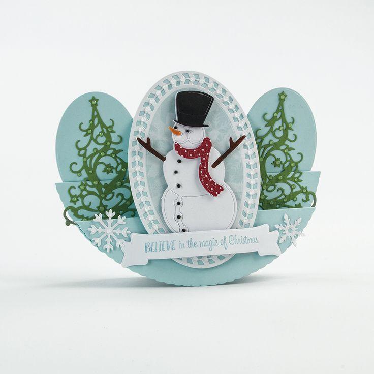 Rococo Christmas - Joyful Snowman - 1376E