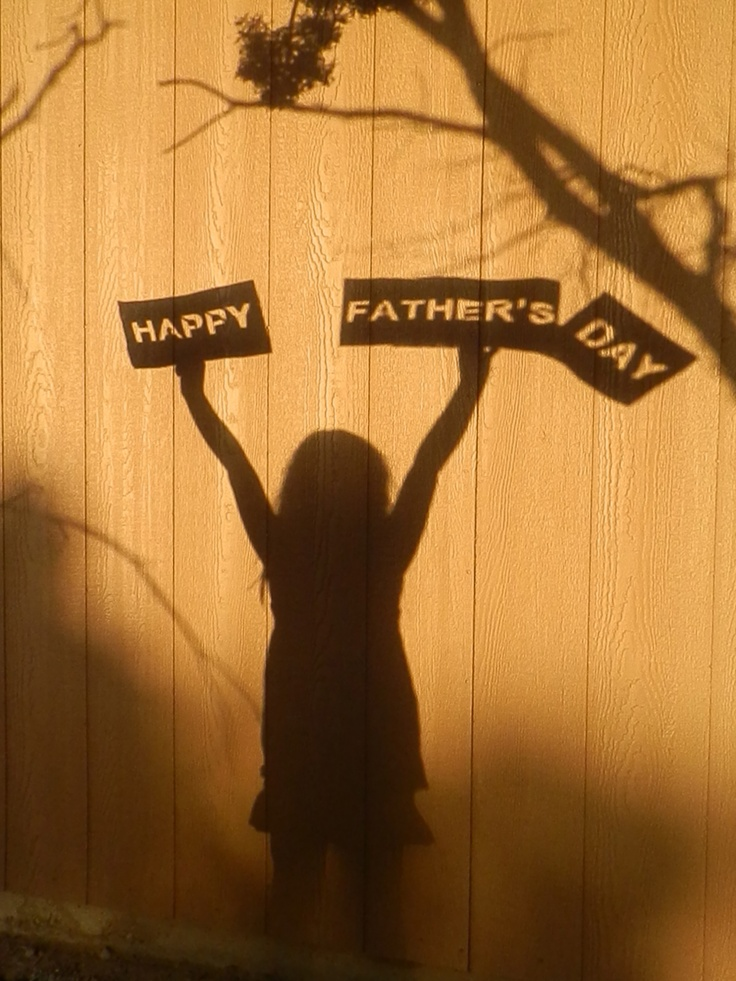 Happy fathers day shadow project photo