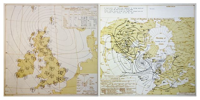 Charts for the UK and Northern Hemisphere D-Day 6 June 1944