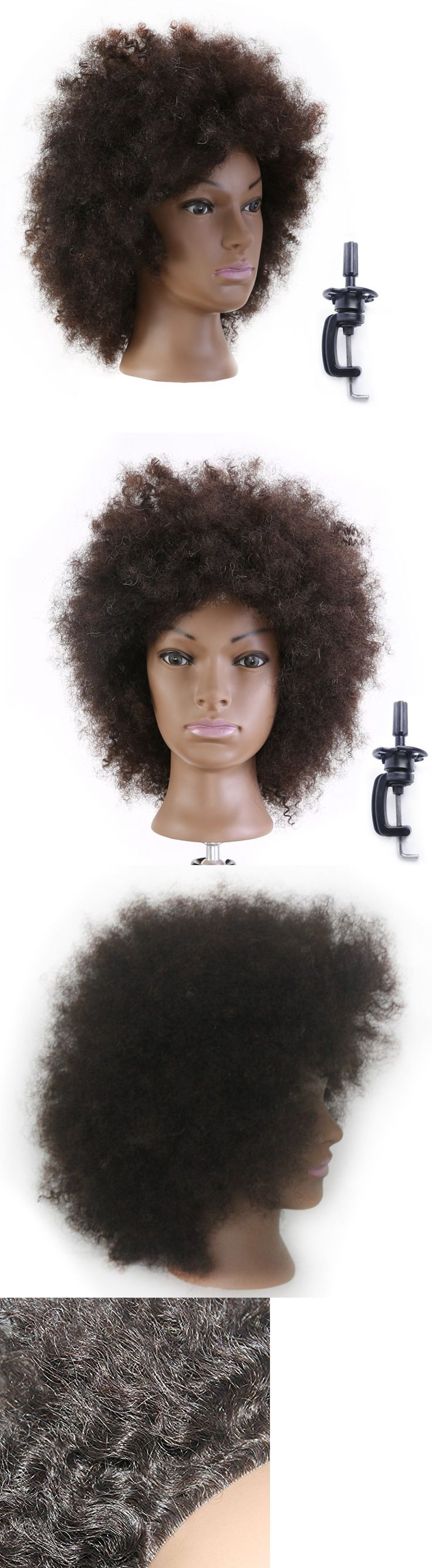 Hair and Makeup Mannequins: New 100% Human Hair Afro Hairdresser Training Head Manikin Cosmetology Mannequin -> BUY IT NOW ONLY: $44.5 on eBay!
