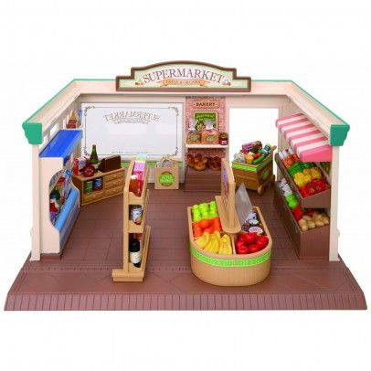 Sylvanian Supermarket `One size Details : 3 fruit and vegetable stalls, Various merchandise, 1 cash desk, 1 trolley, 1 furniture, 1 bag of supplies, character(s) not included * Fabrics : Plastic * Packaging : 19 x 32 x 26 cm. * Do n http://www.MightGet.com/january-2017-13/sylvanian-supermarket-one-size.asp