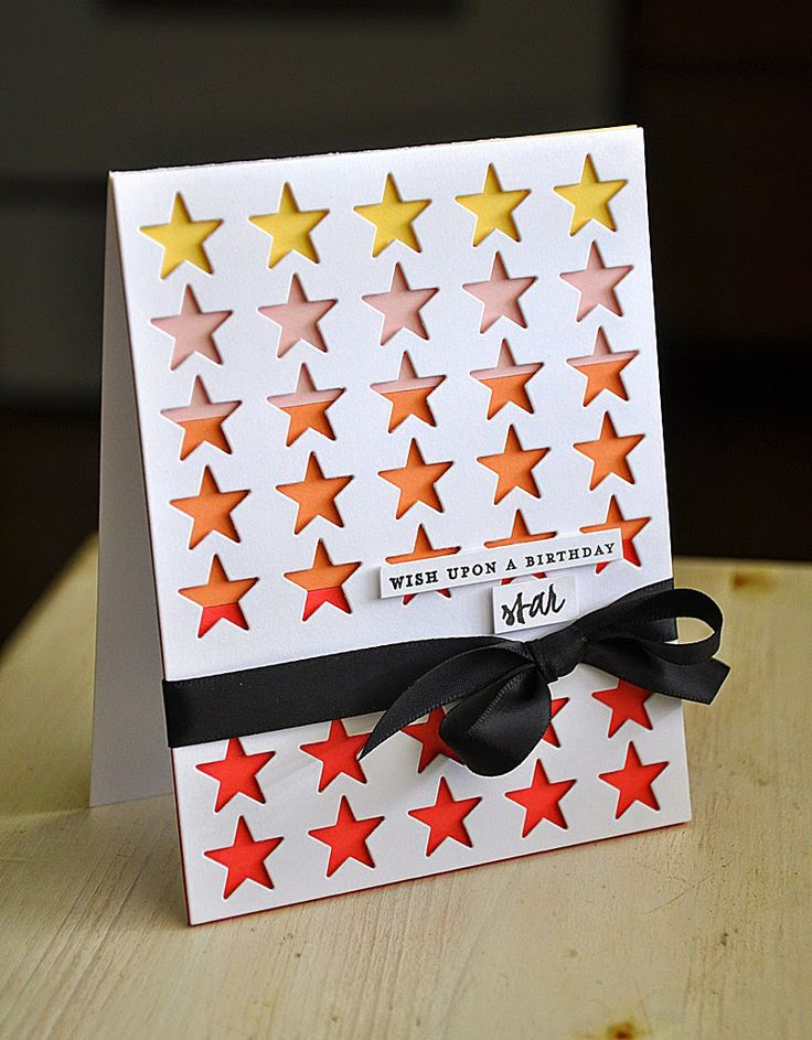 Birthday Star Card by Maile Belles for Papertrey Ink (April 2014)