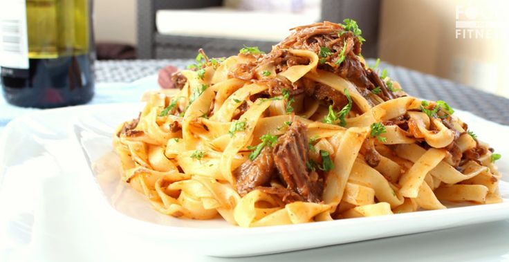 Slow Cooker Pulled Beef Ragu Recipe   A rich, high protein, delicious Italian stew that is simple to prepare  FoodForFitness.co.uk