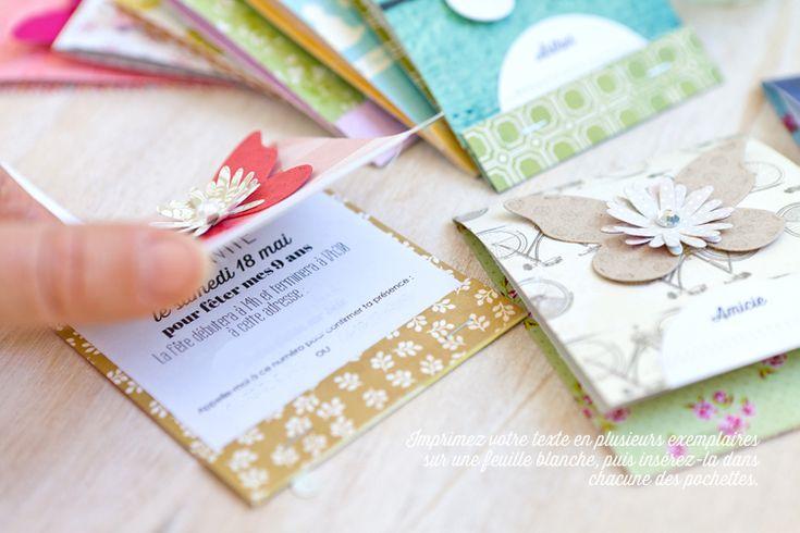 Invitation façon pochette d'allumettes kesi art