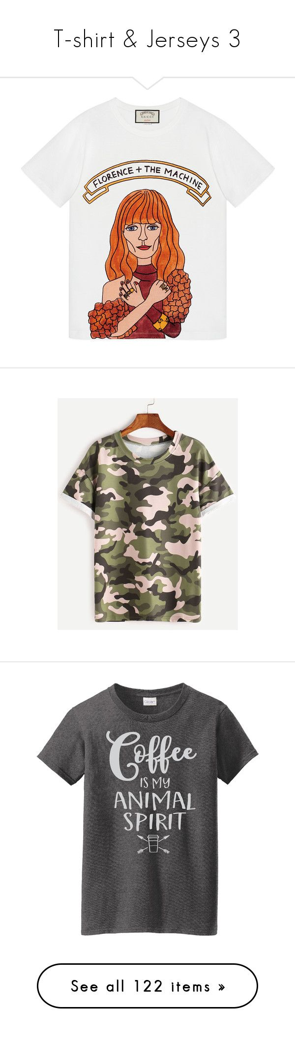 """""""T-shirt & Jerseys 3"""" by michal100-15-4 ❤ liked on Polyvore featuring tops, t-shirts, shirts, tees, folding shirts, t shirts, folding t shirts, print t shirts, pattern t shirt and camoflage t shirt"""