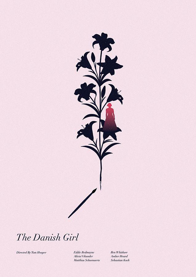 The Danish Girl (2015) ~ Minimal Movie Poster by Matt Needle ~ Oscars 2016 Nominees #amusementphile