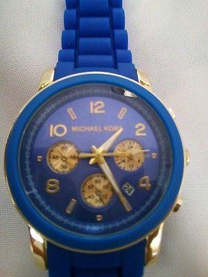 Michael kors blue rubber watch women - men watches - mk unisex