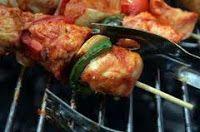 DIETAS PARA ADELGAZAR: Menú de dieta: Brochetas de pollo y jamón
