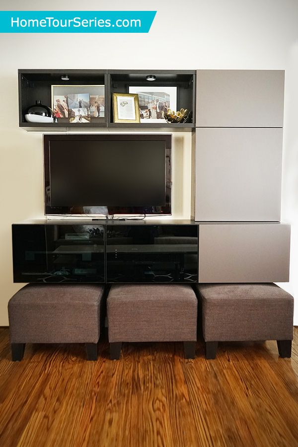 The IKEA BESTA Series Makes It Easy To Create Any Size Entertainment Center Home Tour Squad Used In Their Small Living Room Makeover