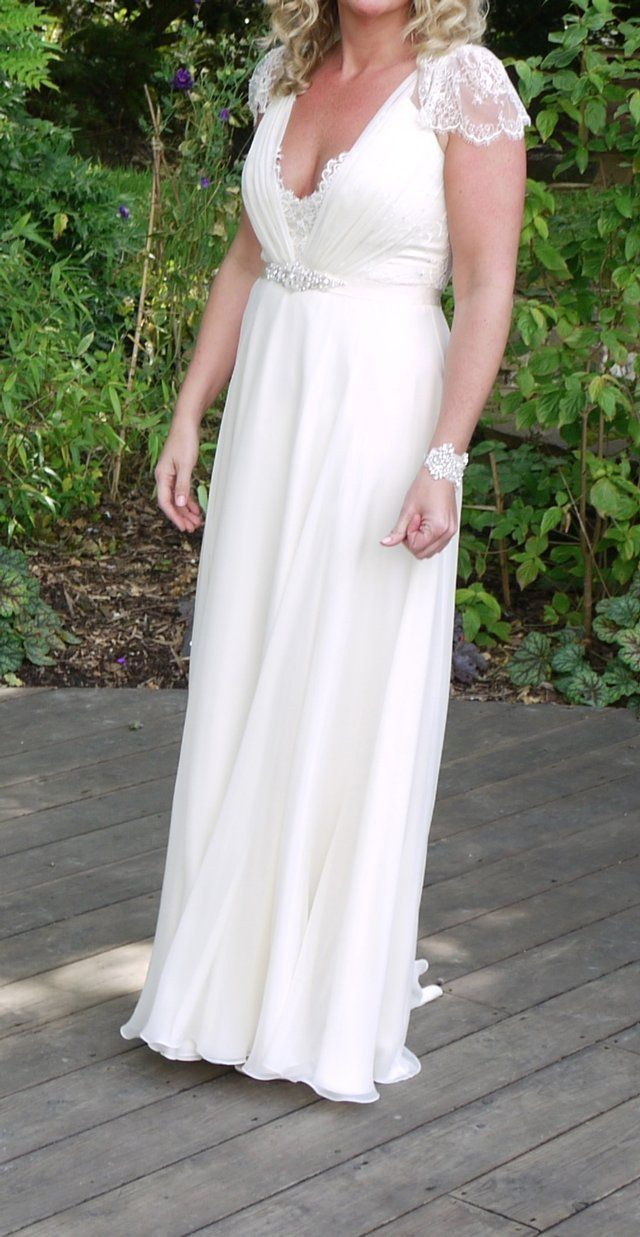 Jenny packham dentelle wedding dress 10 12 for sale for Second hand jenny packham wedding dress