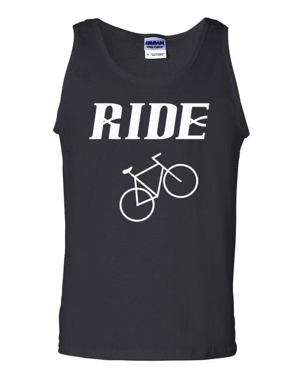 """""""RIDE"""" Bike Enthusiast Men's Tank with White Text"""