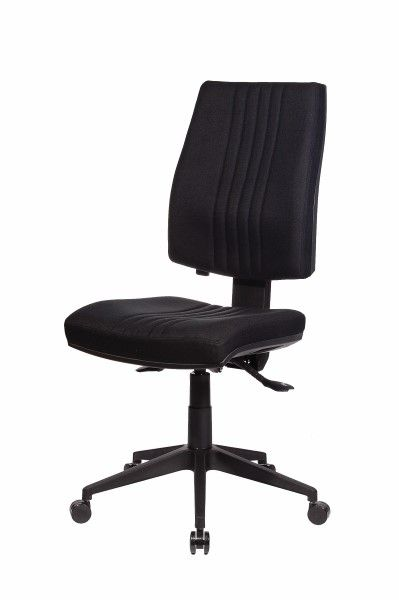 Sensa - Seated's premium ergonomic chair range. The Sensa Stitched High Back chair features central stitching to energize the bottom and spine along with a layer of Dacron foam for a softer feel in the Backrest and Seat. It has a unique moulded back shape with fantastic Lumbar support. The chair also has a push button locking lumbar height back adjustment that allows the user to lock the back in place.  Available exclusively at seated.com.au