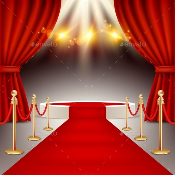 Winners Podium With Red Carpet Vector Realistic Red Curtains Simple Background Images Flower Background Wallpaper