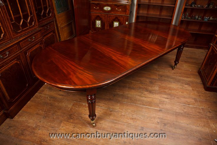 http://canonburyantiques.com/s/dining-tables/victorian-dining-tables/1/  Extending Victorian dining table in flame mahogany - classic extending diner, perfect for the upscale dinner party. Large range of other Victorian dining tables available.
