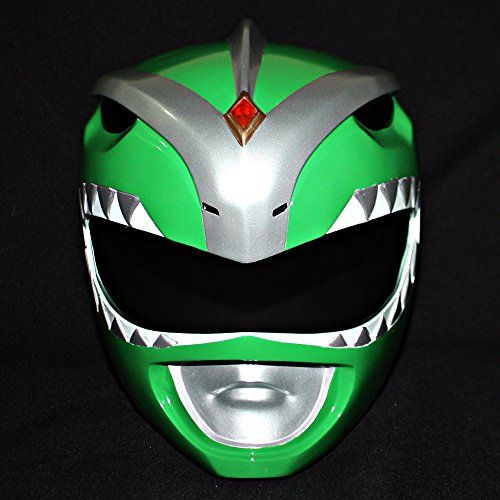 """Buy 1:1 Halloween Costume Cosplay Mighty Morphin Power Ranger Helmet Mask Green PR08  **    Imported** **    On sale at $299 from $319 and free shipping !!! We have sold more than 5000 masks in 4 years.** **    Material : Made from high quality Fiberglass !!!** **    1:1 full scale replica helmet. Suit for head size round 21"""" - 23"""" only.** **    Estimate delivery time is around 14-21 days. Ship by registered Thai Airmail.** **    Painted in fully hand accomplished by skillful professinals…"""