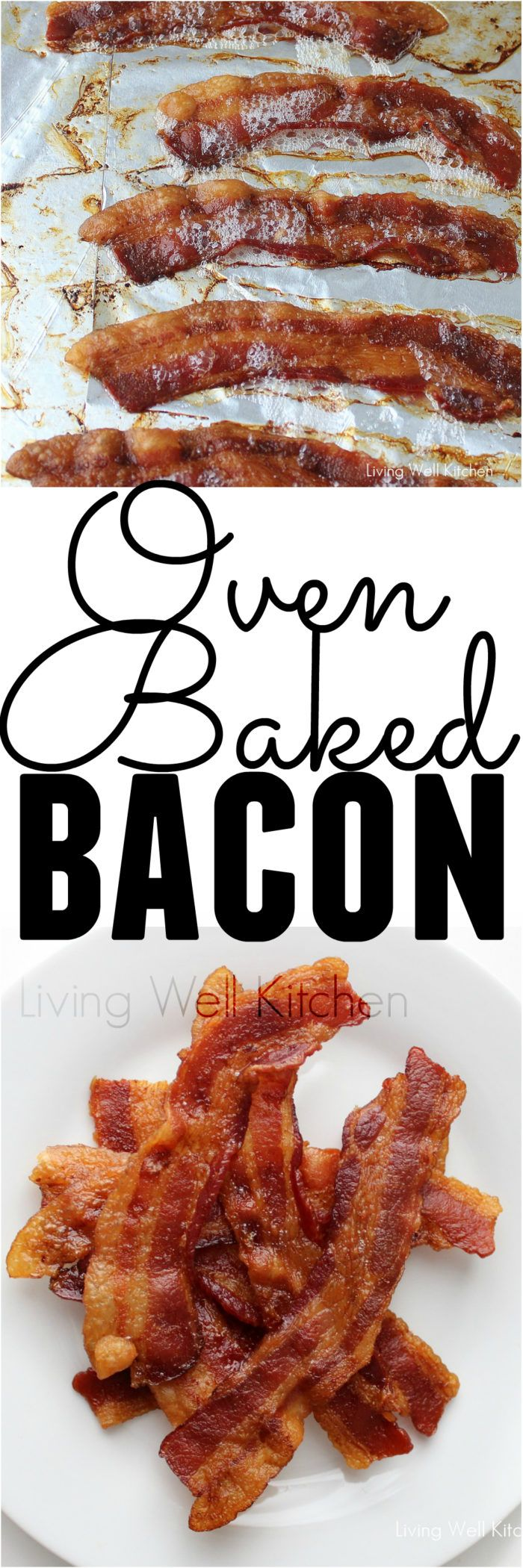 Best 25 oven baked bacon ideas on pinterest oven bacon baked cooking bacon in the oven is much easier and not nearly as messy or painful ccuart Gallery