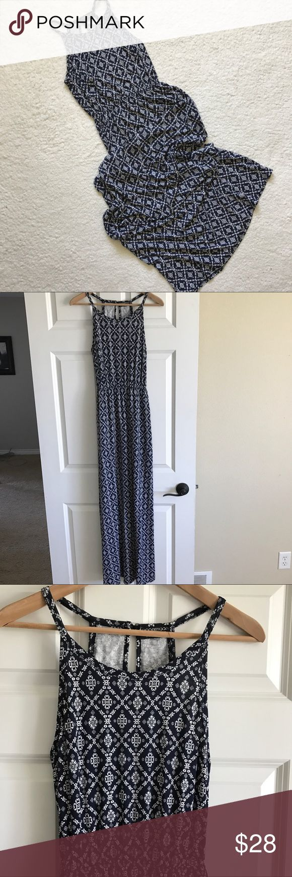 """Papermoon for Stitch Fix Maxi Dress In great condition!  Navy blue and white.  High neckline.  Elastic waistband.  Keyhole back.  Size Small.  Chest 32"""".  Length 57"""". Papermoon Dresses Maxi"""
