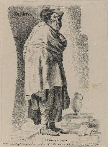 Autor: Goya, Francisco de (1746-1828) Velázquez, Diego-1599-1660-Menipo-