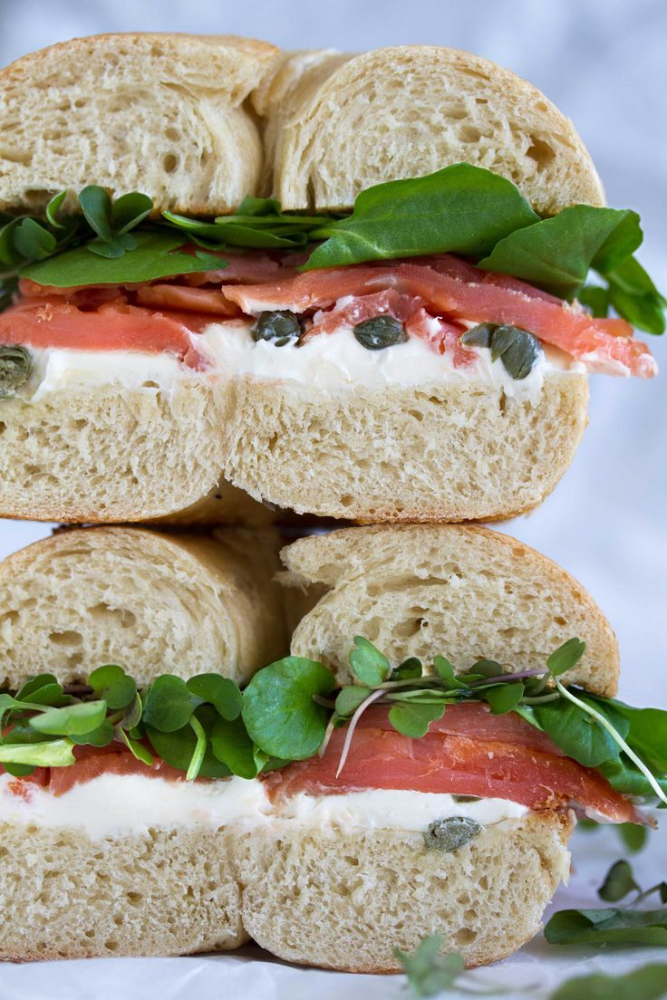 smoked salmon bagel recipe from cookingwithcocktailrings.com || bagel sandwiches cure all! plus this is so easy to make!