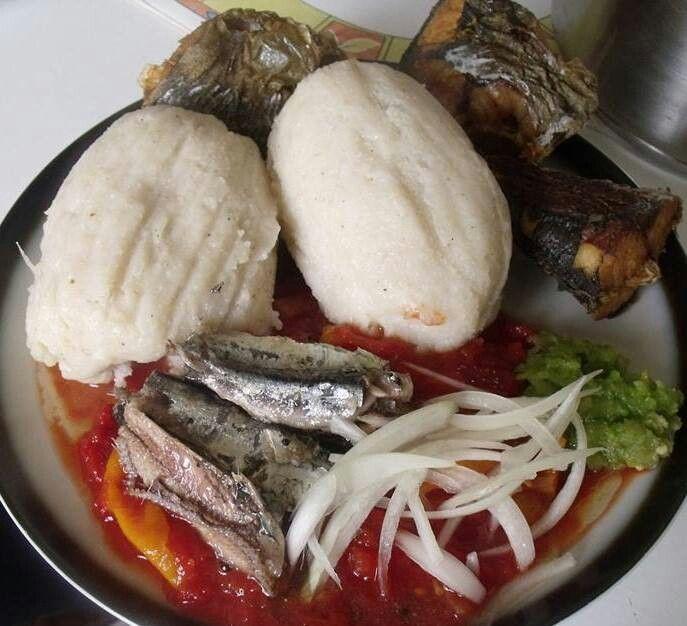 13 African Recipes: Tipical Togo National Dish 'yeyebessissi' (fresh Tomato