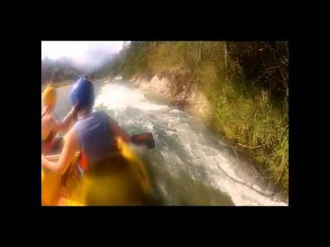 ▶ Rafting in the River Sava near Bled, Slovenia - YouTube