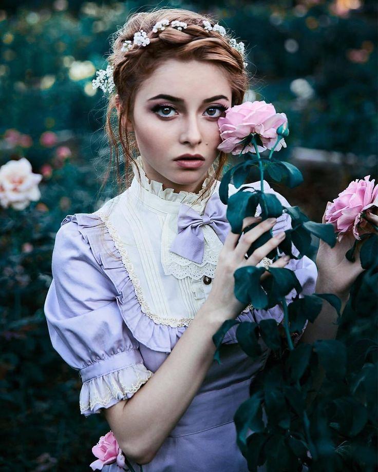 примеры ретро фото цветов она