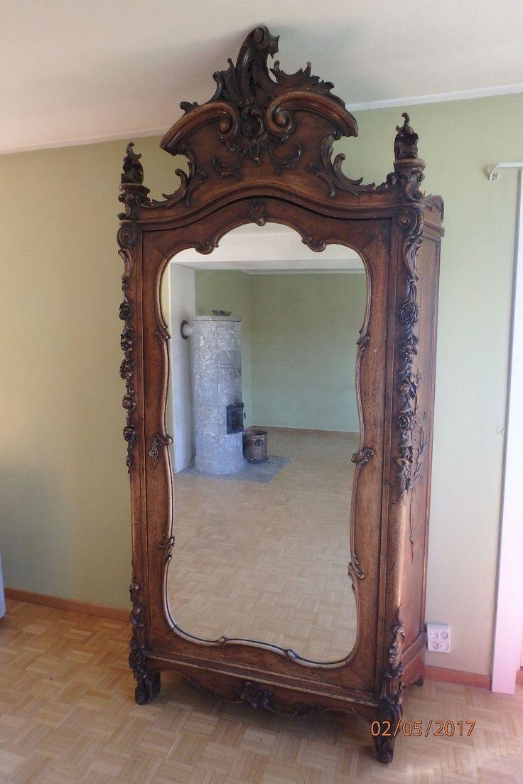 FINN – antikk spansk garderobeskap med speil / tilhörende lite skap