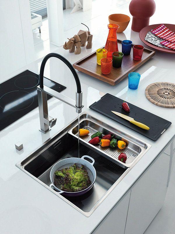 M s de 25 ideas incre bles sobre fregaderos de cocina en - Sobre encimera cocina ...
