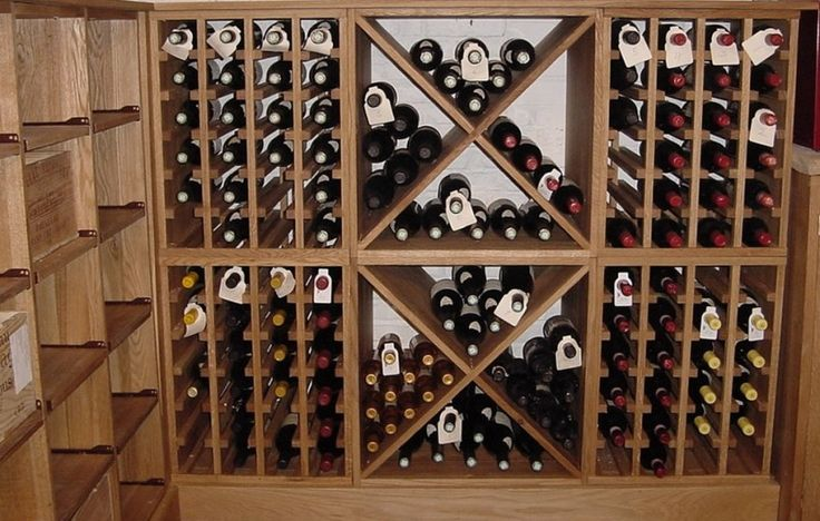 Eclectic Wine Rack for Contemporary House: Solid Oak Wine Racks Walk In Wine Rack Design ~ nidahspa.com Bar