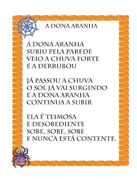 Notebook da Profª: Atividades - Dona Aranha