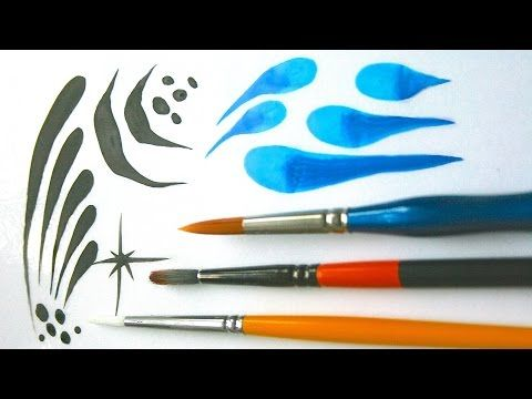 Learn to use and practice with round brushes / Face Painting Made Easy PART 3 - YouTube