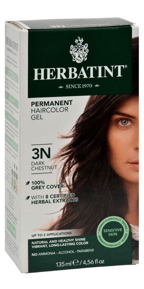 Herbatint Permanent Herbal Hair Colour Gel 3n Dark Chestnut - 135 Ml