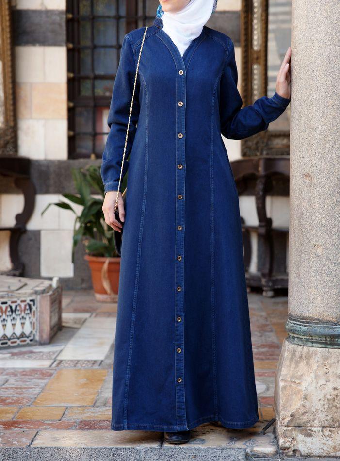 SHUKR USA   Soft Cotton Denim Jilbab