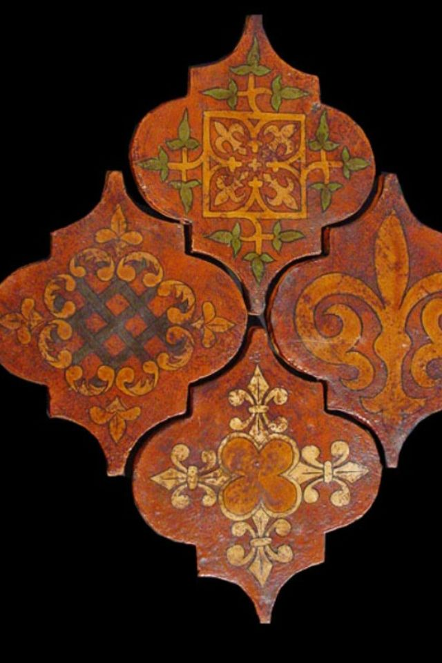 Islamic interlocking ceramic tiles