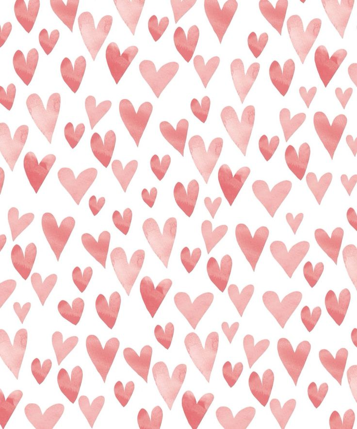 Fashion Wallpaper Vintage Hearts Pink