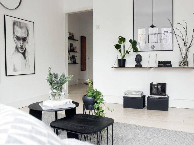 Scandinavisch design op z'n best: een heerlijk zwart-wit interieur - Roomed