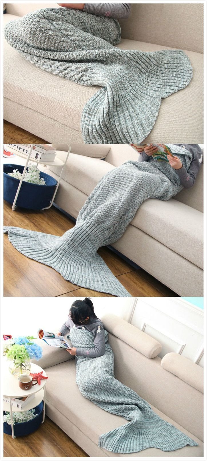 Mermaid Tail Blanket for me !It has 8% off now ,the coupon code is :Happyday11  #discount #mermaid #crafty